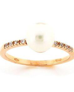 Δαχτυλίδι χρυσό Κ18 με Μαργαριτάρι & Ζιργκόν