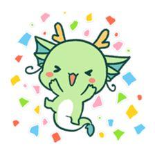 Yuttari Dragon by Quan inc. Cute Little Drawings, Cute Kawaii Drawings, Easy Drawings, Skunk Drawing, Cute Dragon Drawing, Kawaii Illustration, Kawaii Doodles, Cute Dragons, Dibujos Cute