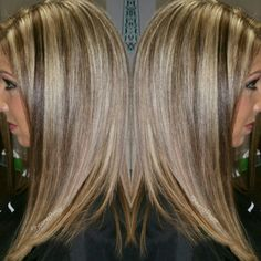 Blondes have more fun with a mix of lighy chocolate ♡ Hair by Sheena Payer https://m.facebook.com/StudioLushLLC/