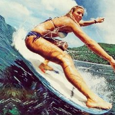 Surf's up // surfer girls // party wave // beach lifestyle // aloha lifestyle // happy vibes // longboarding // longboard love // toes on the nose Girls Twitter, Sup Yoga, Hang Ten, Longboarding, Surf Style, Big Waves, Surf Girls, Beach Bum, Bikini Beach