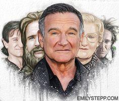 Robin Williams Tribute by EmilyStepp.deviantart.com on @deviantART