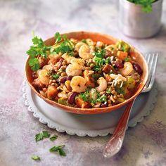 Chorizo, Menu Weight Watchers, Kung Pao Chicken, Chana Masala, Pasta Salad, Food And Drink, Healthy Recipes, Ethnic Recipes, Diy Schmuck