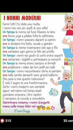 Italian Vocabulary, Grandparents Day, Mamma, Pre School, Kids Playing, Father, Classroom, Humor, Creative