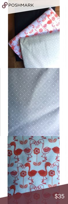 •Custom Duster Listing for @adorableloan• Three custom dusters in Grey argyle, flamingos & black. Handmade. ellebee206 Bags