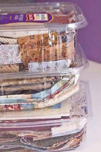 Art Studio Storage Ideas: Clear Produce Containers | craft storaGE