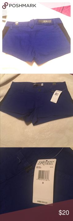 Fox brand, blue edge shorts style size 0 Brand new Nice blue shots FOX Brand Fox Shorts Cargos