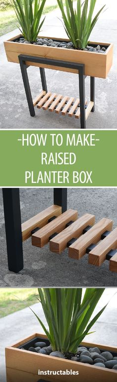 How to Make a Raised Planter Box #woodworking #gardening #outdoors