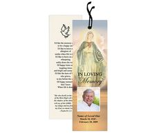 Catholic themed Memorial Bookmarks : Vision Bookmark Template