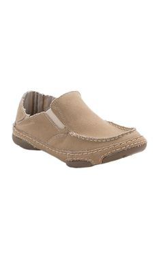 Tony Lama 3R Women's Winter Wheat Natural Canvas Slip On Casual Shoes | Cavender's