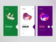 Onboarding for gambling app game operator graphics gambling cuberto illustration onboarding sketch icons ux ui Ui Ux Design, Application Ui Design, User Interface Design, Graphic Design, Flat Design, Mobile App Design, Mobile App Ui, App Design Inspiration, App Widget