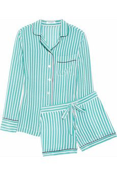 cute striped washed-silk pajamas