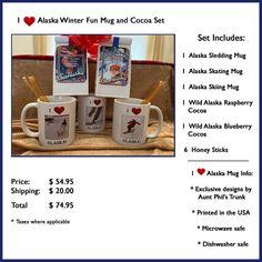 Alaska Winter Mug Set Hot Cocoa Gift Basket Sledding Mug | Etsy