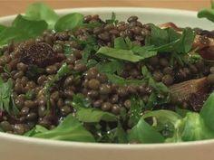 roasted beetroot and lentil salad