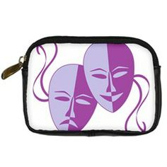 Comedy & Tragedy Of Chronic Pain Digital Camera Leather Case from Fun With Fibro