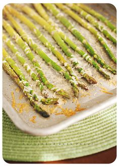 Roasted Parmesan Asparagus - I've made it this way several times recently and we love it.  Tonight made it on the grill instead and it turned out great!