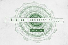 Check out VINTAGE SECURITY SEALS by INSTANT VINTAGE on Creative Market