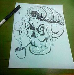 """Money Sucker"" Drawing pen on paper A4 2014 Hand made by Yanas Kosel"