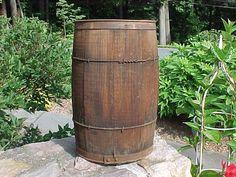 Vintage Wooden Nail Keg Wood Barrel Primitive Garden Décor Rustic Farm  #Country