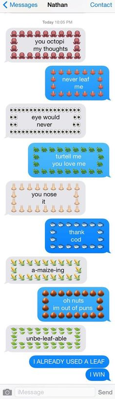True love: Using dumb puns and not being reprimanded over it.: