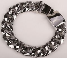 Style: Punk Gender: Men Chain Type: Link Chain Length: 8.5 inch 21.5cm Clasp Type: Hidden-safety-clasp Metals Type: Stainless Steel Shape\pattern: Geometric