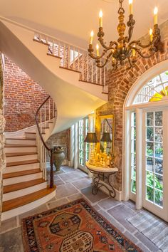 French Quarter residence, New Orleans. Trapolin Peer Architects. Exposed Brick, French Quarter, Retail Space, Ground Floor, Stairs, Ladder, Staircases, Old Bricks, Stairway