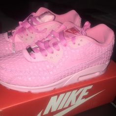 PINK NIKE AIR MAX 90 SHANGHAI BRAND NEW. 8 IN WOMENS. WILL GO LOWER ON MERC Nike Shoes Sneakers