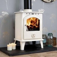 Bianco cream ENAMEL Multi-fuel Woodburning Stove 6kw