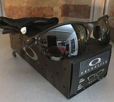 4a262f14c4   Oakley Half X Carbon Black Polarized Lens Box Coin Free S H