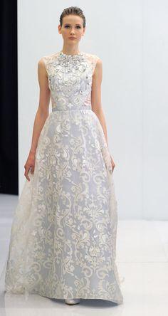 Stunning high-neck wedding gown | Angel Sanchez Spring 2017 | https://www.theknot.com/content/angel-sanchez-wedding-dresses-bridal-fashion-week-spring-2017