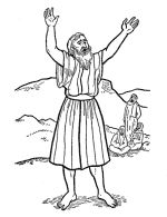 Lesson 26 john the baptist color then glue small pieces for John the baptist coloring pages printable