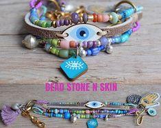 Boho bracelet Ethnic Tribal bracelet Hippie Silver tag | Etsy Gypsy Bracelet, Shell Bracelet, Strand Bracelet, Tribal Bracelets, Jewelry Bracelets, Jewellery, Personalized Bracelets, Handmade Bracelets, Circle Necklace