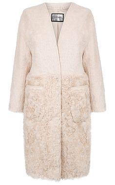 Кашемировое пальто с мехом козлика