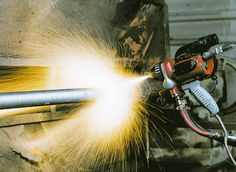 Wire flame spraying