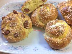 Πεντανόστιμα Τυροπιτακια,λουκανοπιτακια στα γρηγορα Bakery Recipes, Doughnut, Muffin, Bread, Breakfast, Sweet, Desserts, Food, Morning Coffee