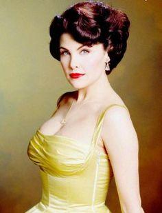 Sherilyn Fenn in 50 yellow vintage evening dress.jpg