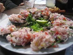 Mussels - Choritos a la Chalaca (peruvian recipe)