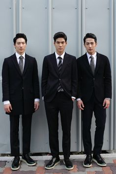 Asian guys with nice hair in suits