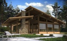 Roof Design, House Design, Future House, My House, Mountain Home Exterior, House Construction Plan, Villa, Prefabricated Houses, Forest House