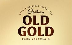 Bulletproof Updates Logo and Packaging for Cadbury Old Gold - Logo Designer - Logo Designer Packaging Design, Branding Design, Logo Design, Split Design, Modern Crafts, Gold Logo, Confectionery, Design Agency, Logos