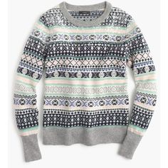 J.Crew Petite Sequin Fair Isle Sweater ($170) ❤ liked on Polyvore featuring tops, sweaters, petite, sparkle sweater, petite evening tops, fair isle sweater, sparkly tops and evening sweaters