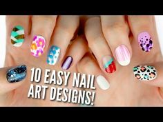 10 Easy Nail Art Designs for Beginners: The Ultimate Guide! - YouTube