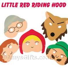 Masks Little Red Riding Hood Play Masks