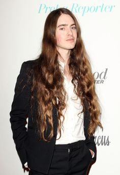 Cosmetics designer Edward Bess attends the Neiman Marcus Beverly Hills Grand Re-Opening of Cosmetics and Fragrance at Neiman Marcus on February 2015 in Beverly Hills, California. Cool Hairstyles For Men, Boys Long Hairstyles, Hairstyles Haircuts, Beautiful Long Hair, Gorgeous Men, Hair And Beard Styles, Long Hair Styles, Cosmetics & Fragrance, Hair Reference