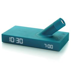 LED alarm clock with a projector that shoots the time onto the wall when turned on. Cool!