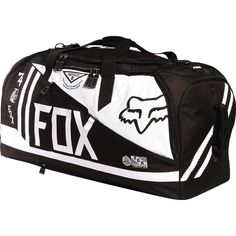 Fox Racing Podium Machina Gear Bag - Chaparral Motorsports Check out these cute duffel bags Fox Motocross Boots, Youth Motocross Gear, Yamaha Motocross, Motocross Clothing, Dirt Bike Suits, Dirt Bike Riding Gear, Dirt Biking, Womens Dirt Bike Gear, Nitro Circus