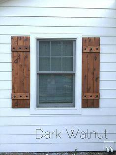 "Wood Shutters, Rustic exterior cedar shutters- ""Board and ba.- Wood Shutters, Rustic exterior cedar shutters- ""Board and batten"" Wood Shutters Rustic exterior cedar shutters Board Window Shutters Exterior, Outdoor Shutters, Farmhouse Shutters, Cedar Shutters, Rustic Shutters, Diy Shutters, Windows With Shutters, Outside Window Shutters, Cottage Shutters"