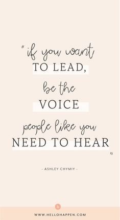 If you want to lead, be the voice people like you need to hear - business inspiration quotes Frases Girl Boss, Girl Boss Quotes, Woman Quotes, This Girl Quotes, Babe Quotes, Quotes Women, You Got This Quotes, Quotes To Live By, Change Quotes