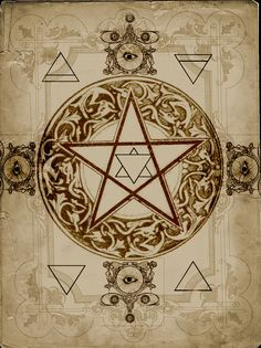 Elemental Pentacle by Grim of Cauldron Craft Oddities