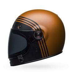 "Matt black & copper finish on the 2018 BELL Bullitt ""Forge Black & Copper"" retro motorbike helmet. Comes with ECE safety standard."