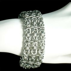 Chainmaille Bracelet Cuff by IsisArtsLLC on Etsy, $59.00
